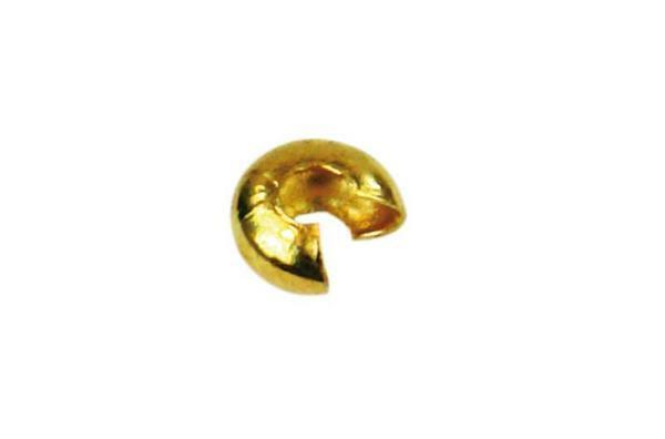 Kapje voor knijpkralen - 50 st., goudkleurig