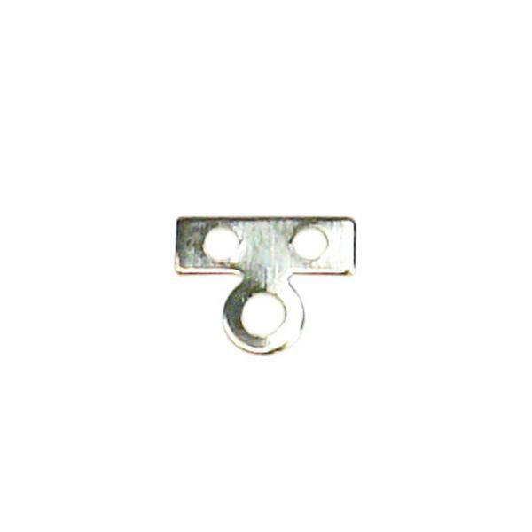 Metallplättchen 2-Loch, silberfarig