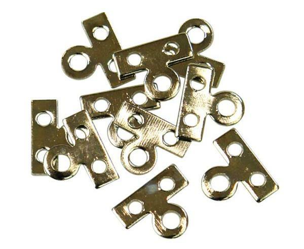 Metalen plaat 2 gaten, zilverkleurig