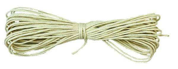 Corde en coton Ø 1 mm - 6 m, crème
