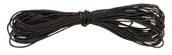 Baumwollkordel Ø 1 mm - 6 m, dunkelbraun