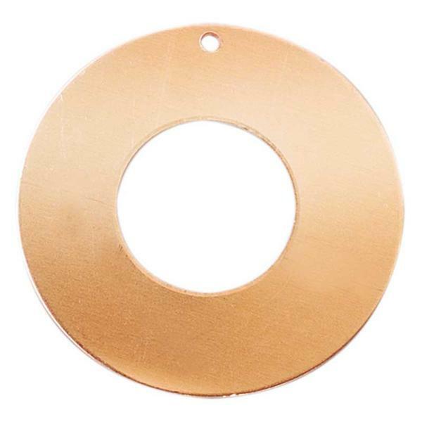 Pendentif cuivre - donut, 1 trou