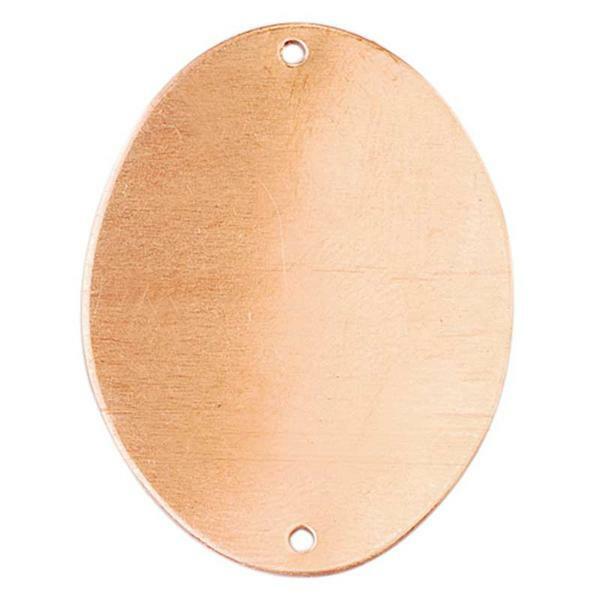 Kupferanhänger, oval - 2 Bohrungen