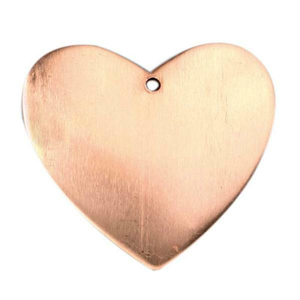 Kupferanhänger, Herz - 1 Bohrung