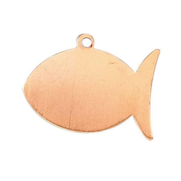 Kupferanhänger, Fisch mit Aufhänger