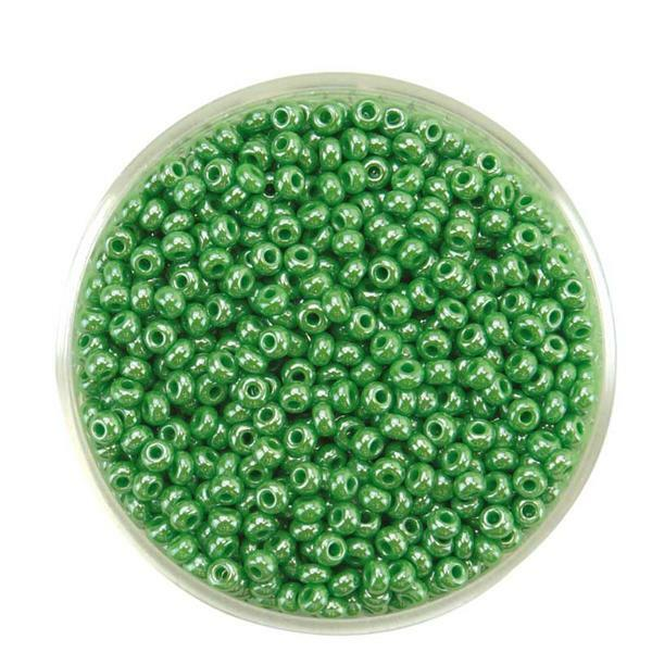 Rocailles opal Ø 2,6 mm, grün