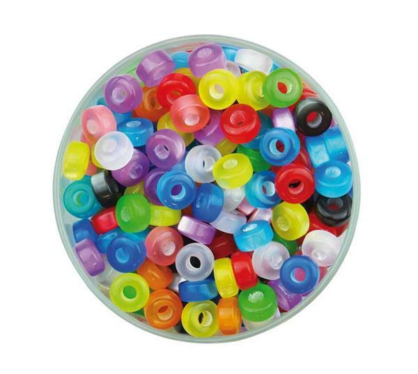 Perles plastiques 5 x 9 mm, 100 g