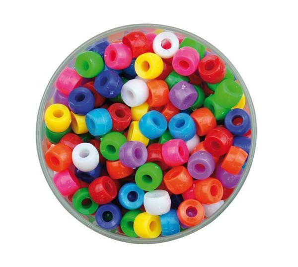 Perles plastiques Congo - opaque, 250 g