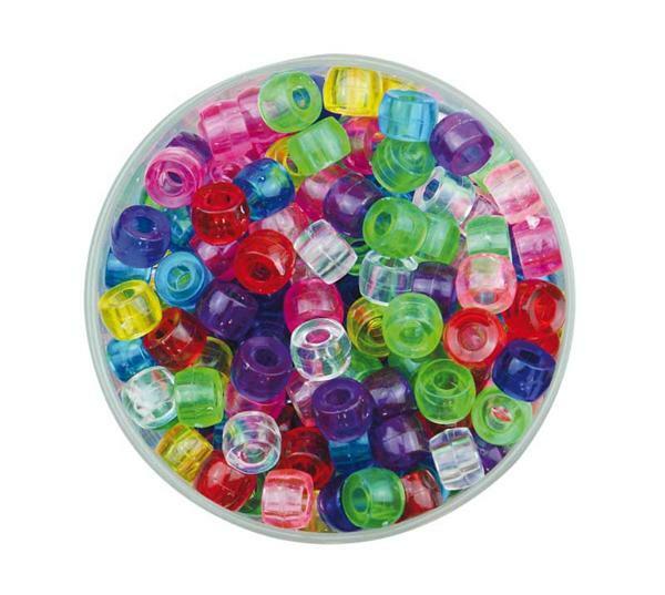 Perles plastiques Congo - transparent, 250 g