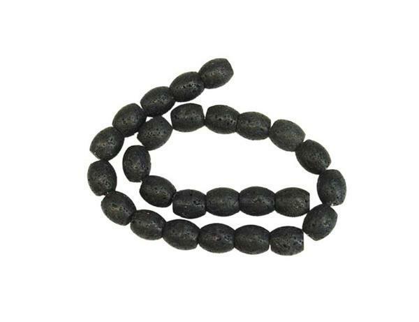 Perles de lave ovales, env. 25 pces