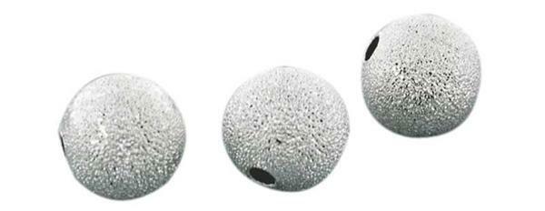Metallperlen Stardust - 100 Stk., silberfarbig