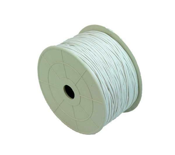 Baumwollkordel Ø 1 mm - 100 m, weiß
