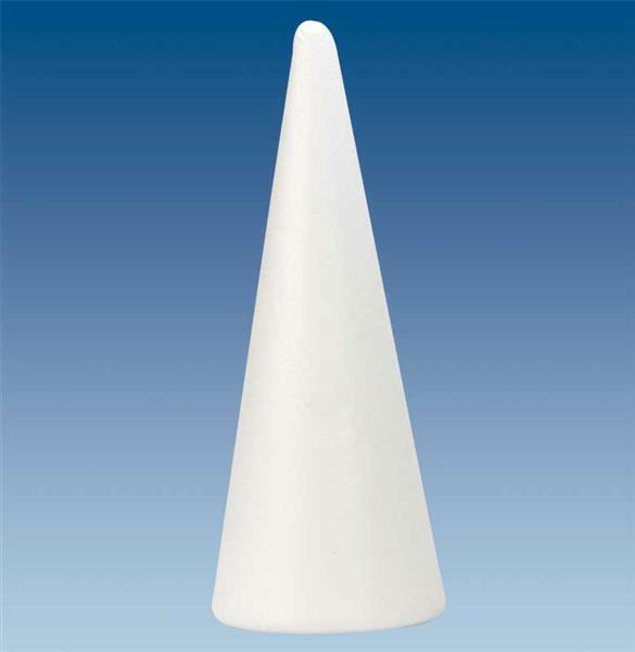 Styropor - Kegel, Ø 11,5 x 30 cm