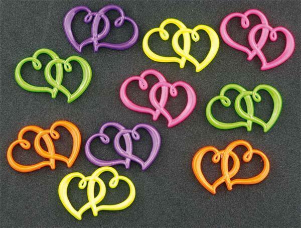 Metalen hartjes, 10 stuks