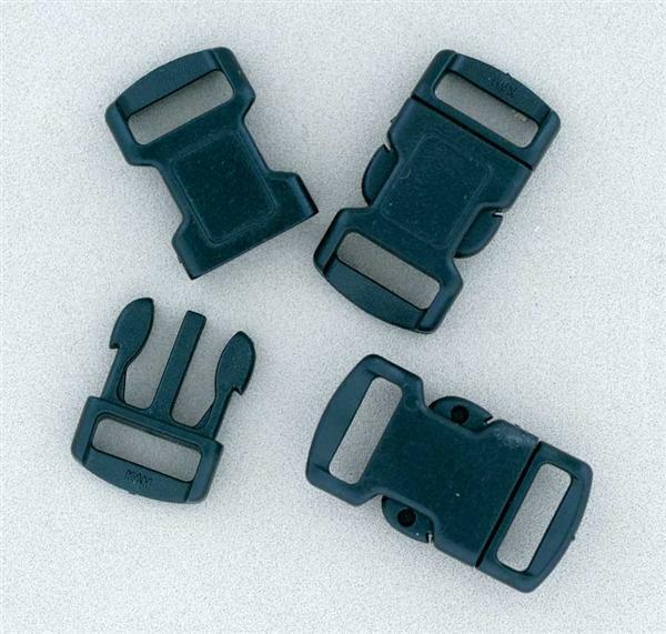 Kliksluiting - 10 st./pak, 11 mm, zwart