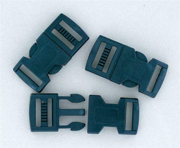 Kliksluiting, 10 st./pak, 16 mm, zwart