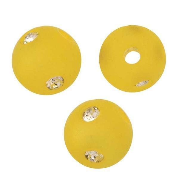 Perles de verre Polaris Strass - 8 mm, jaune