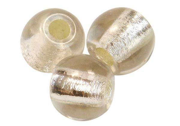 Glaskralen met groot rijggat - 12 mm, kristal