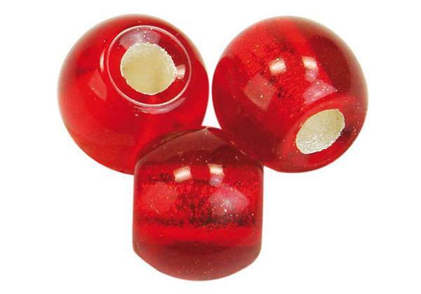 Perles à gros trou - 12 mm, rouge