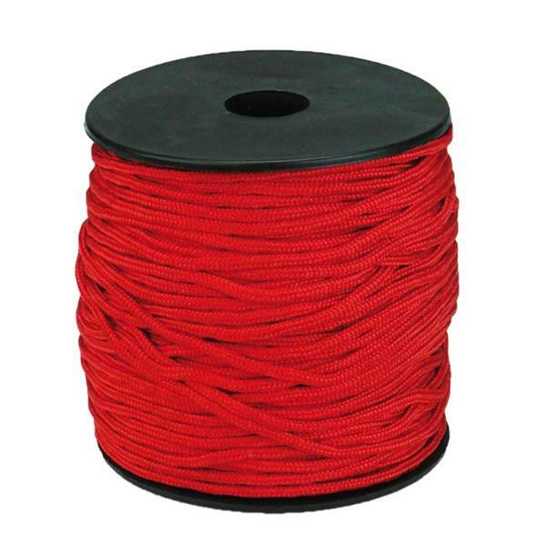 Paracorde 2 mm - 50 m, rouge
