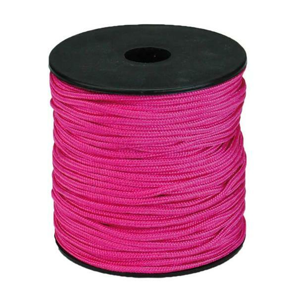Paracord 2 mm - 50 m, zuurstokroze