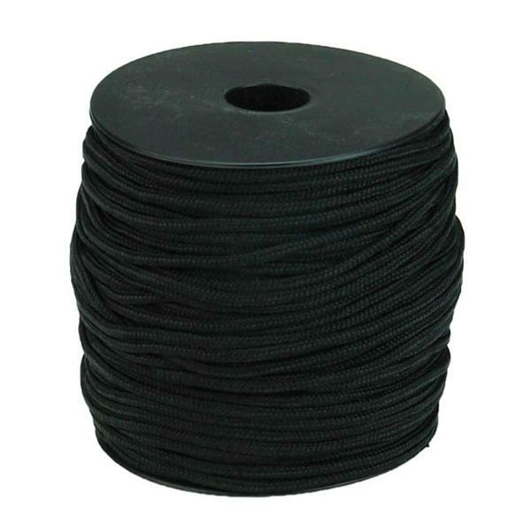 Paracord 2 mm - 50 m, zwart