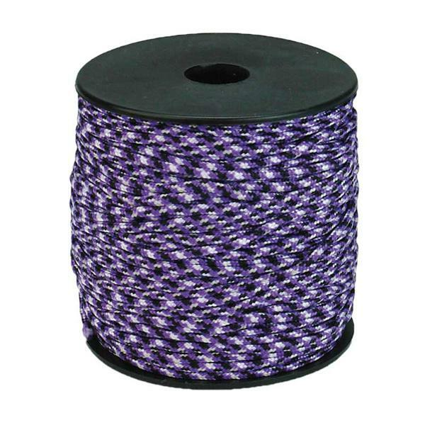 Paracord 2 mm - 50 m, wit-lila