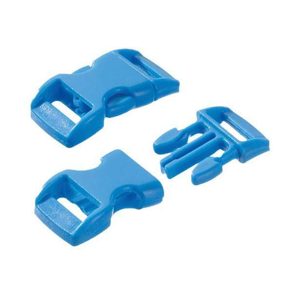 Fermoirs-clic - 10 pces, 11 mm, bleu clair