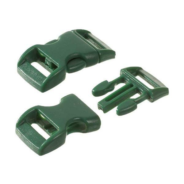 Fermoirs-clic - 10 pces, 11 mm, vert foncé