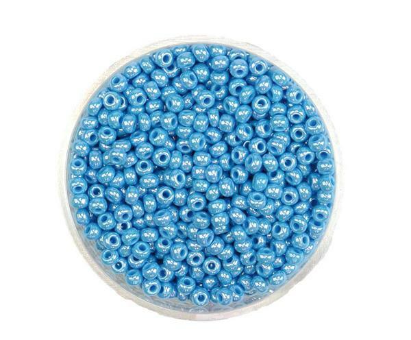 Rocailles opales - Ø 2,6 mm, bleu bébé