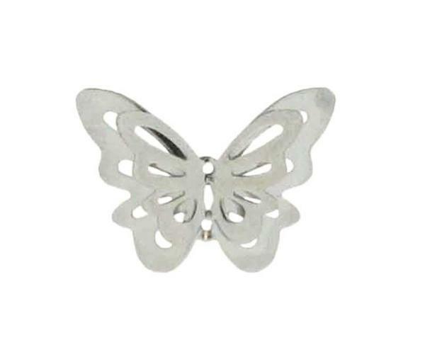 Anhänger Schmetterling - 25 mm, silber