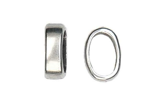 Pièce intermédiaire anneau - argent, 14 x 10 mm
