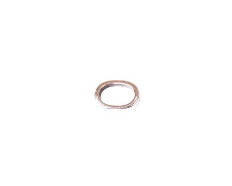 Tussendeel ring - 14 x 10 mm, zilver