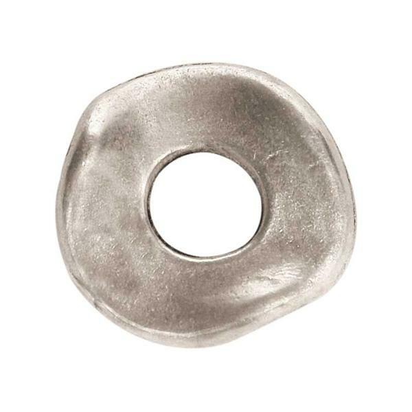 Pièce intermédiaire ronde - argent, 20 mm