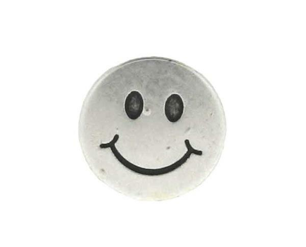 Tussendeel Smiley - zilver, 17 mm