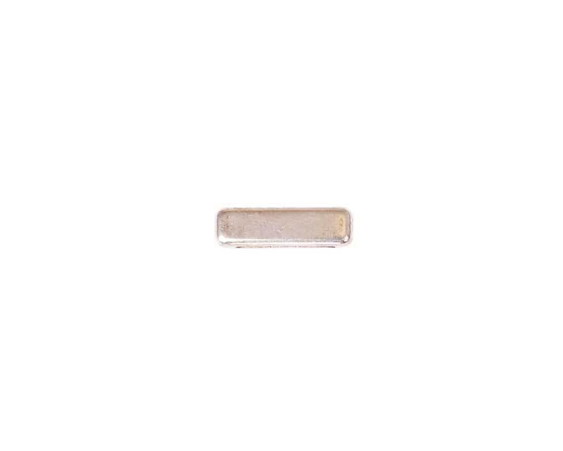 Tussendeel hoekig - 17 x 4 mm, zilverkleurig