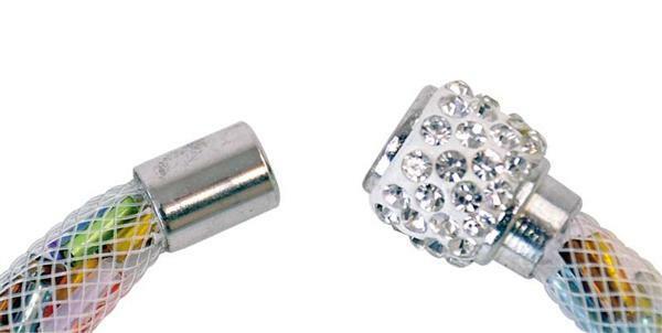 Magneetsluiting strass, zilverkleurig