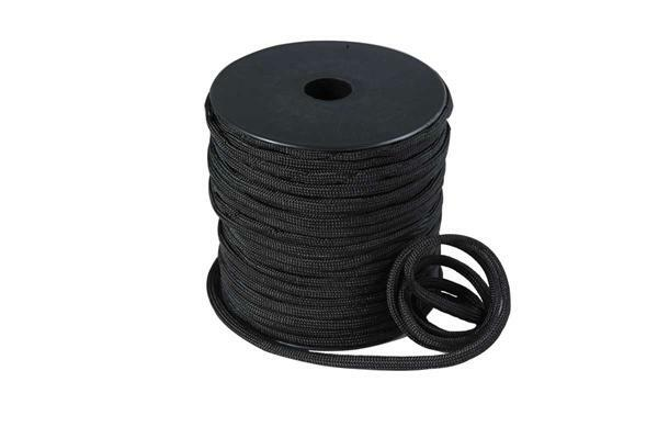 Paracord 4 mm - 40 m, zwart