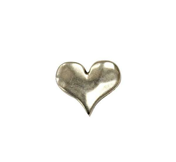 Metallzwischenteil Herz, altplatin
