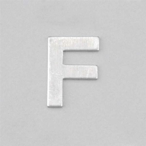Lettre aluminium F