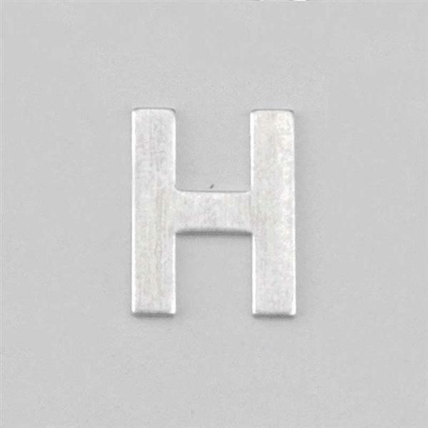 Aluminium letter H