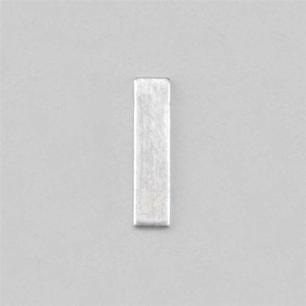 Aluminium letter I