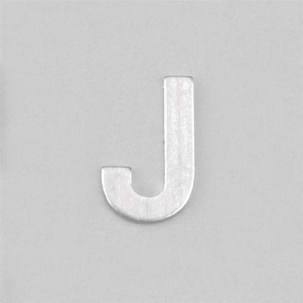 Aluminium letter J