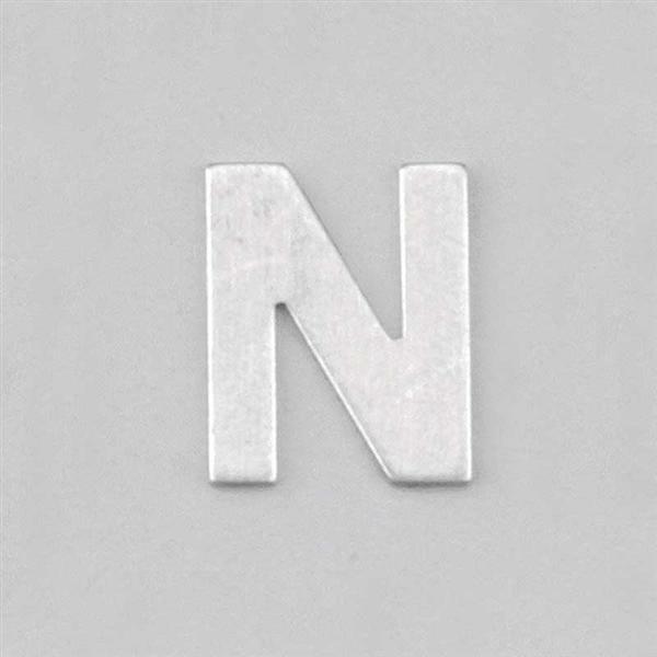 Lettre aluminium N
