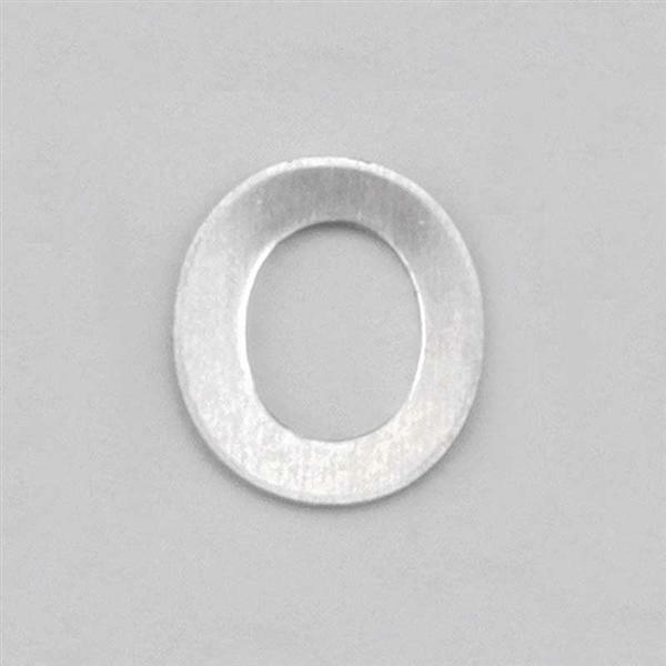 Aluminium letter O