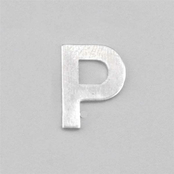 Aluminium letter P