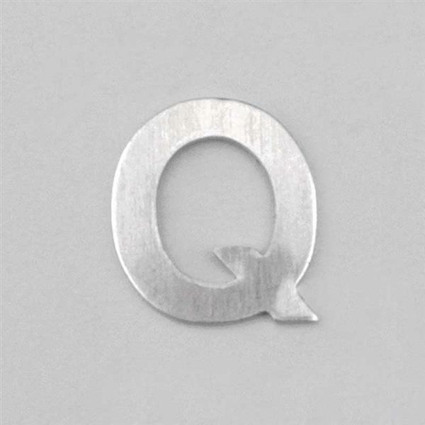 Aluminium letter Q