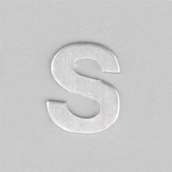 Aluminium letter S