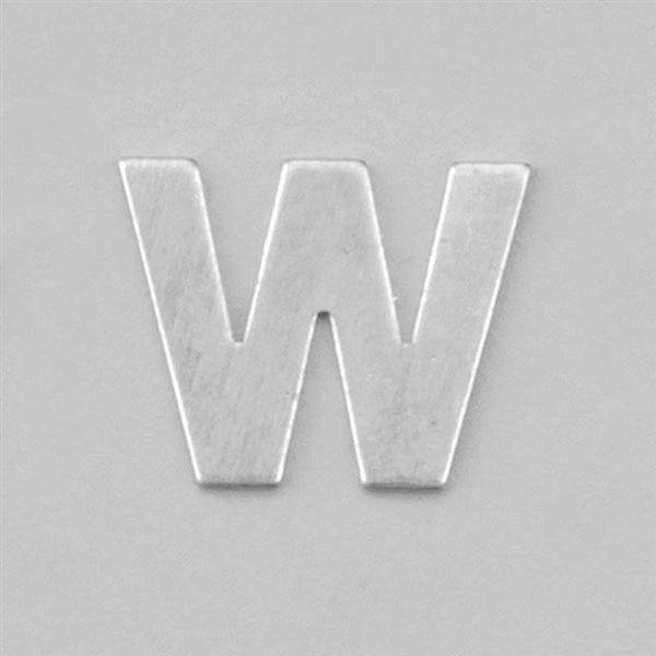 Aluminium letter W