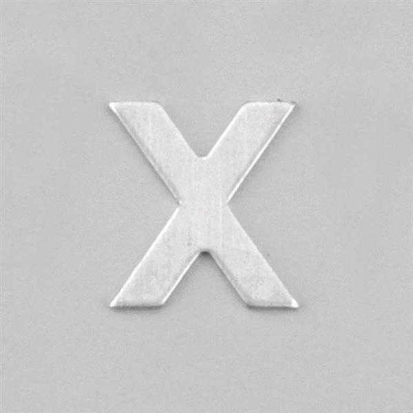 Aluminium letter X